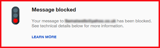 Blocked Emails.